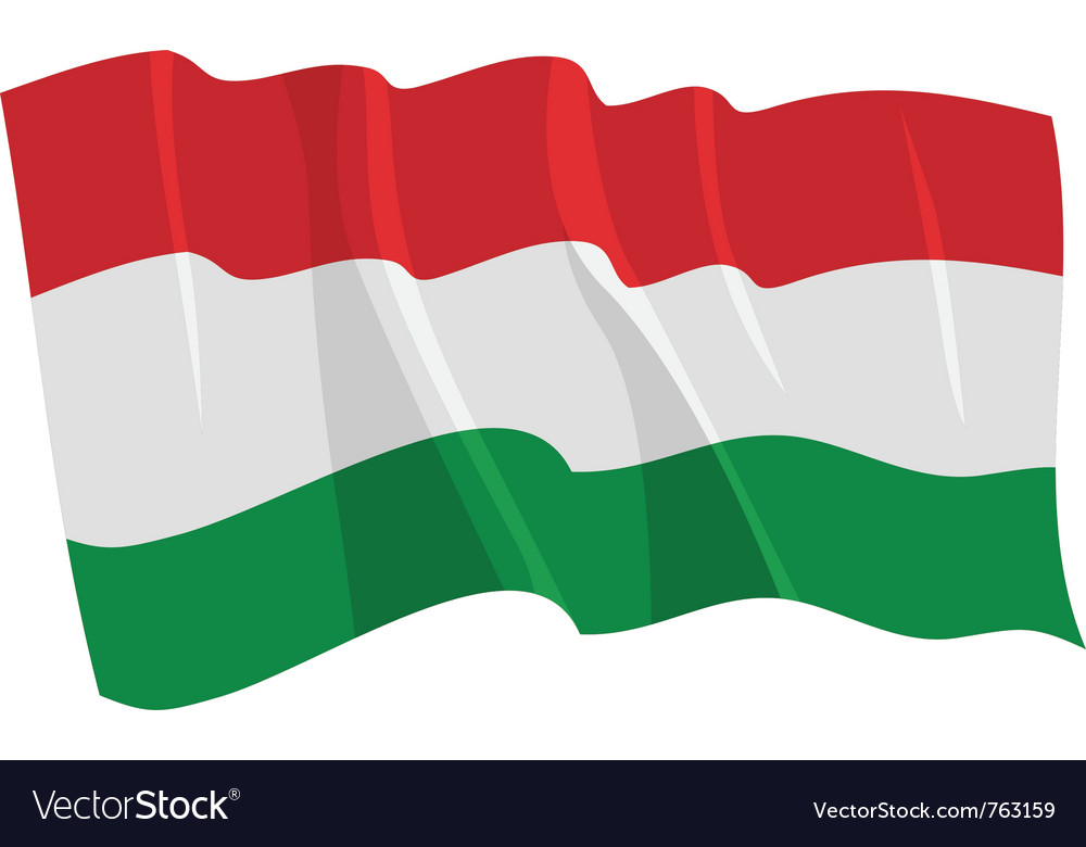 Political waving flag of hungary
