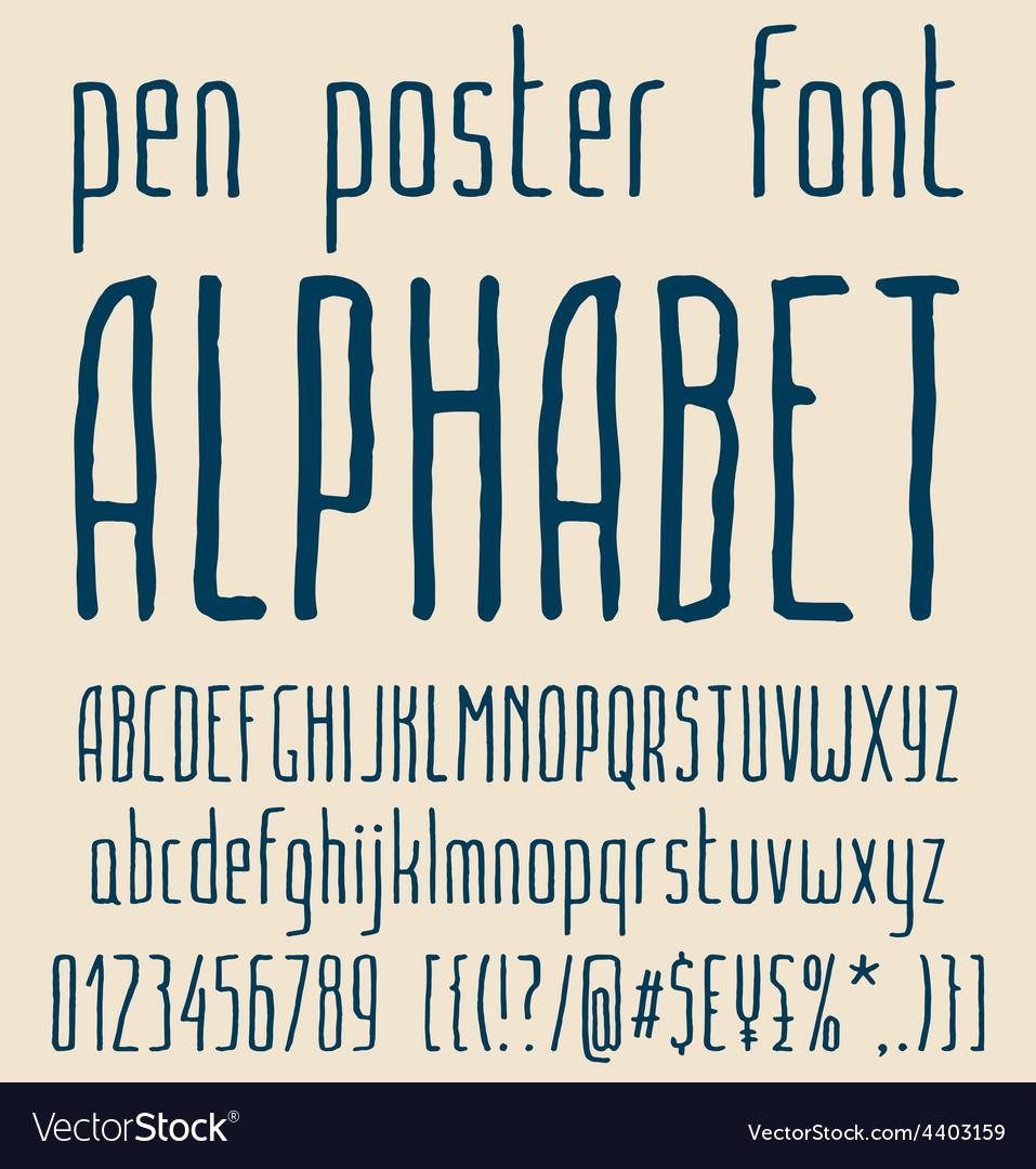 Sans-serif hand-drawn elegant pen poster minimal
