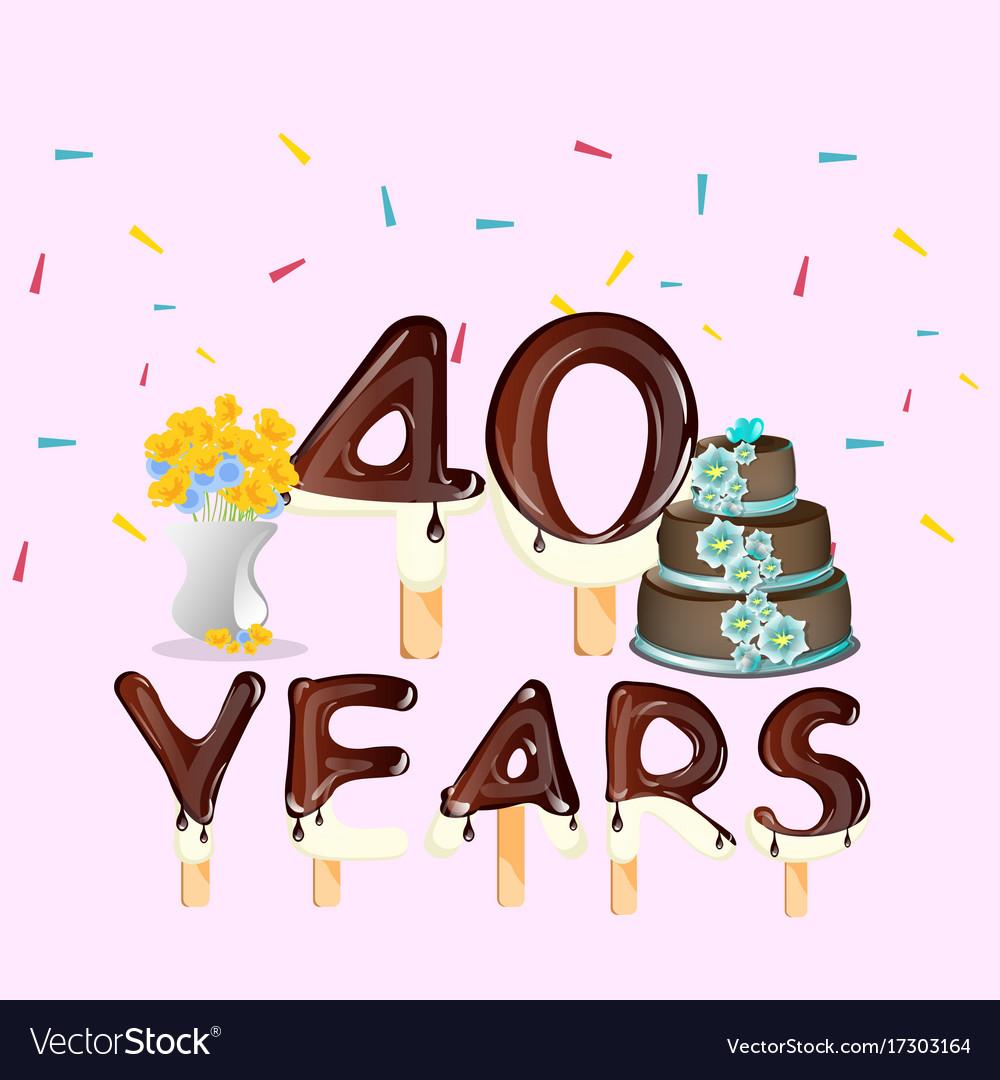 40th anniversary celebration design card
