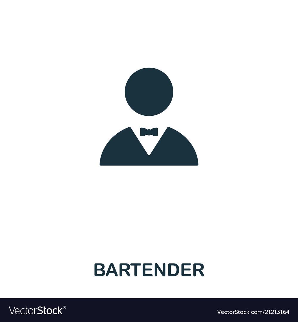 Bartender icon line style icon design ui