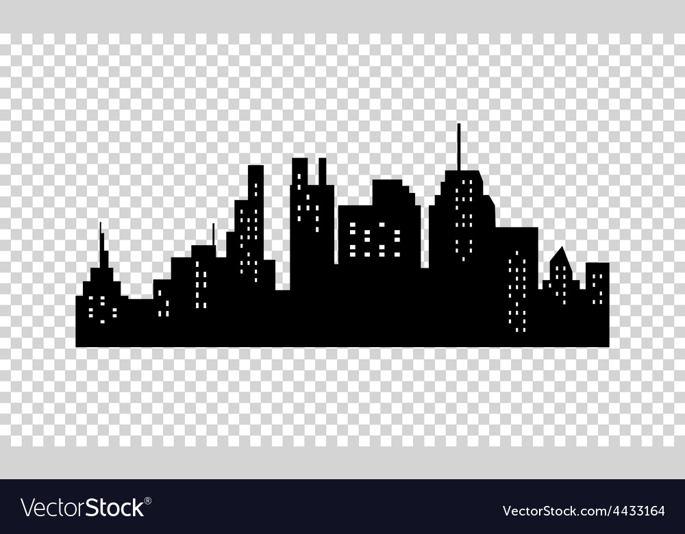 city silhouette royalty free vector image vectorstock rh vectorstock com city skyline silhouette free vector city silhouette vector download
