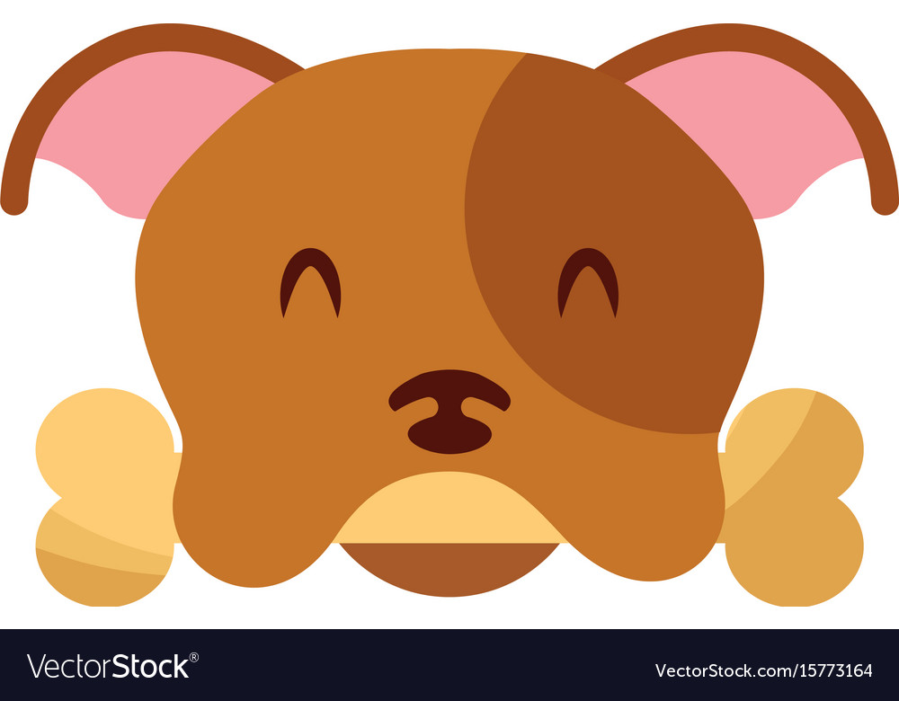 Cute dog mascot with bone