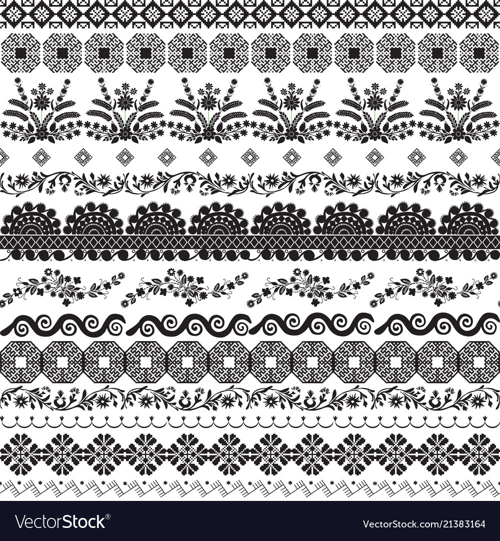 Decor with slavic patterns