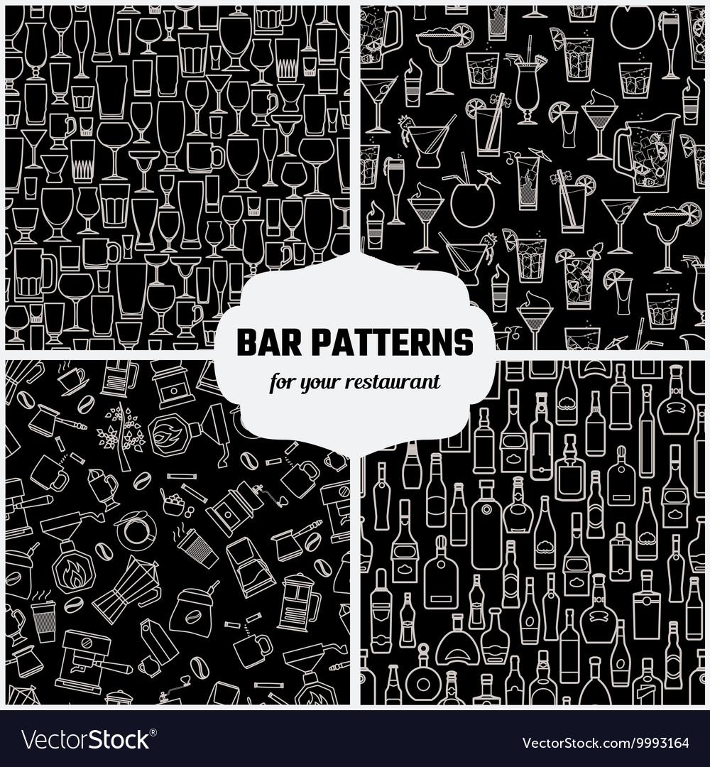 Drinks Seamless Pattern 1