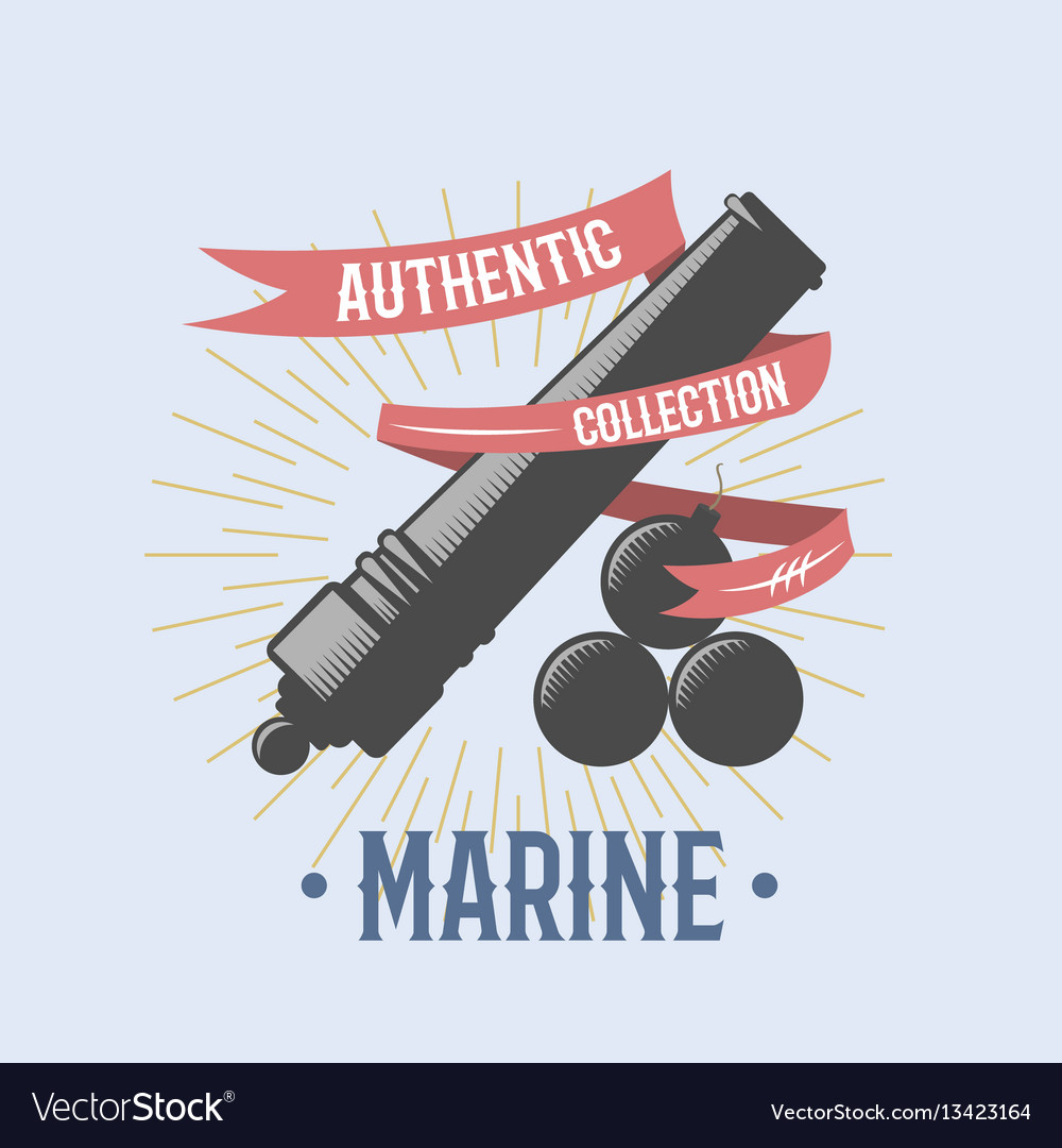 Fashion nautical and marine sailing themed label vector image