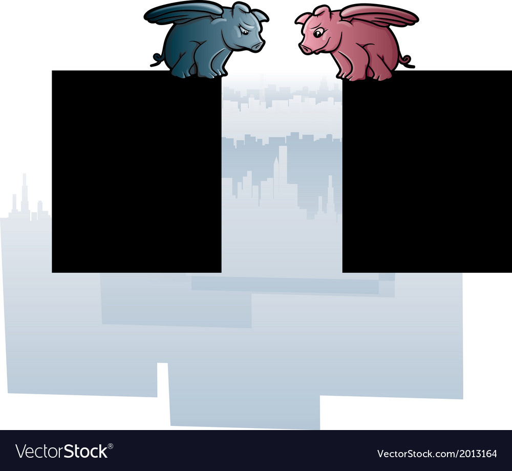 Flying Pigs vector image