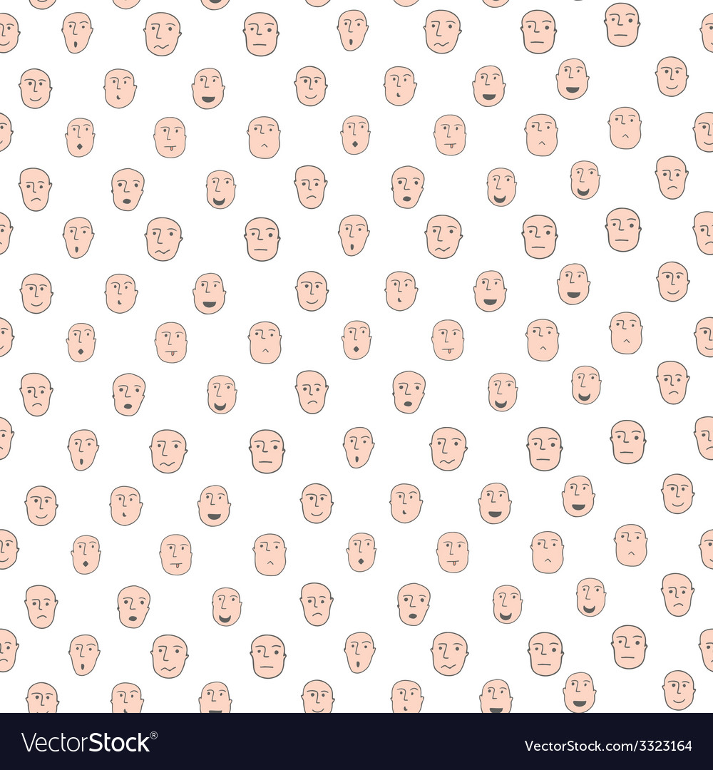 Funny cartoon seamless pattern with different