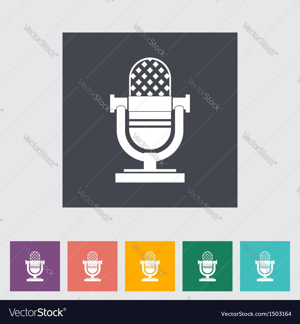 Icon vintage microphone