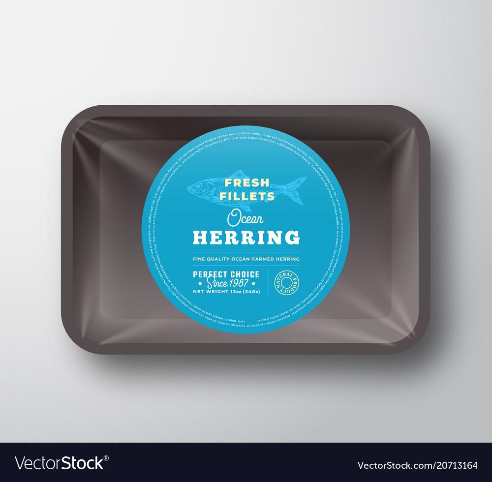 Ocean herring fillets abstract fish