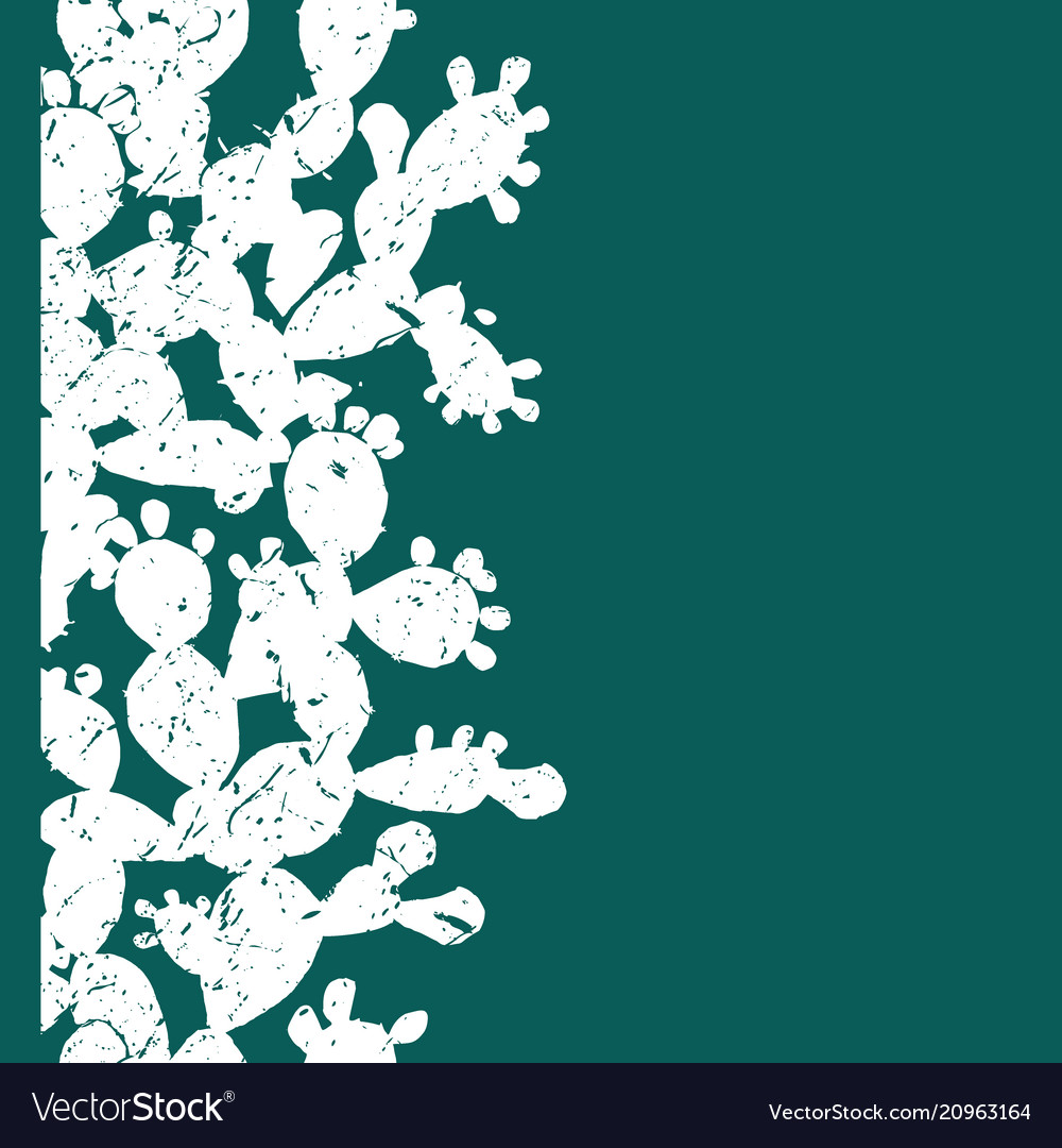 Vertical seamless pattern with grange prickly