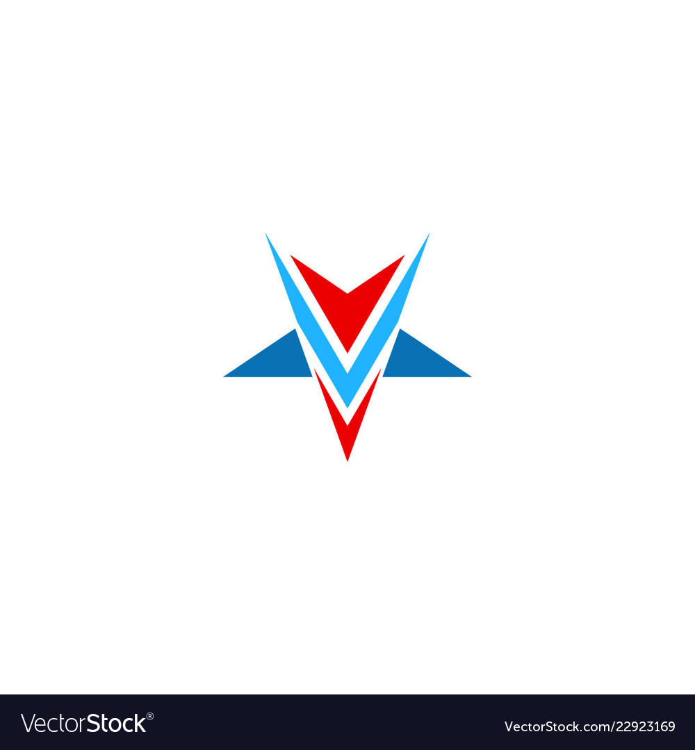 Abstract triangle star business logo