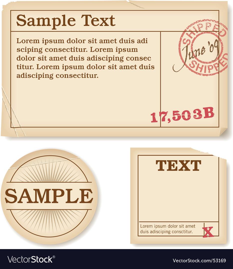 Antique labels