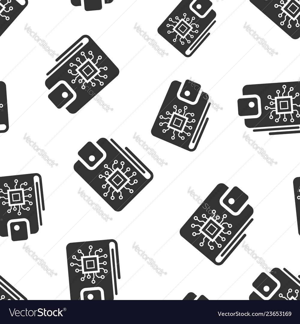 Digital wallet icon seamless pattern background