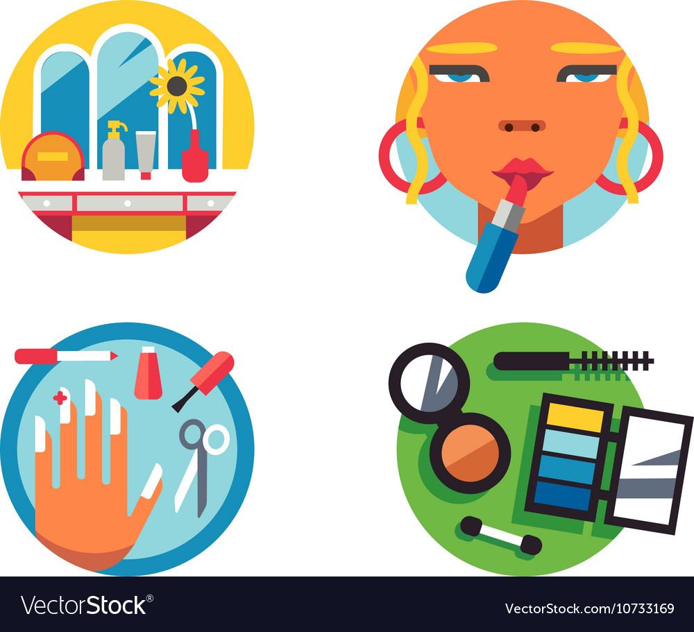 Making make-up icons