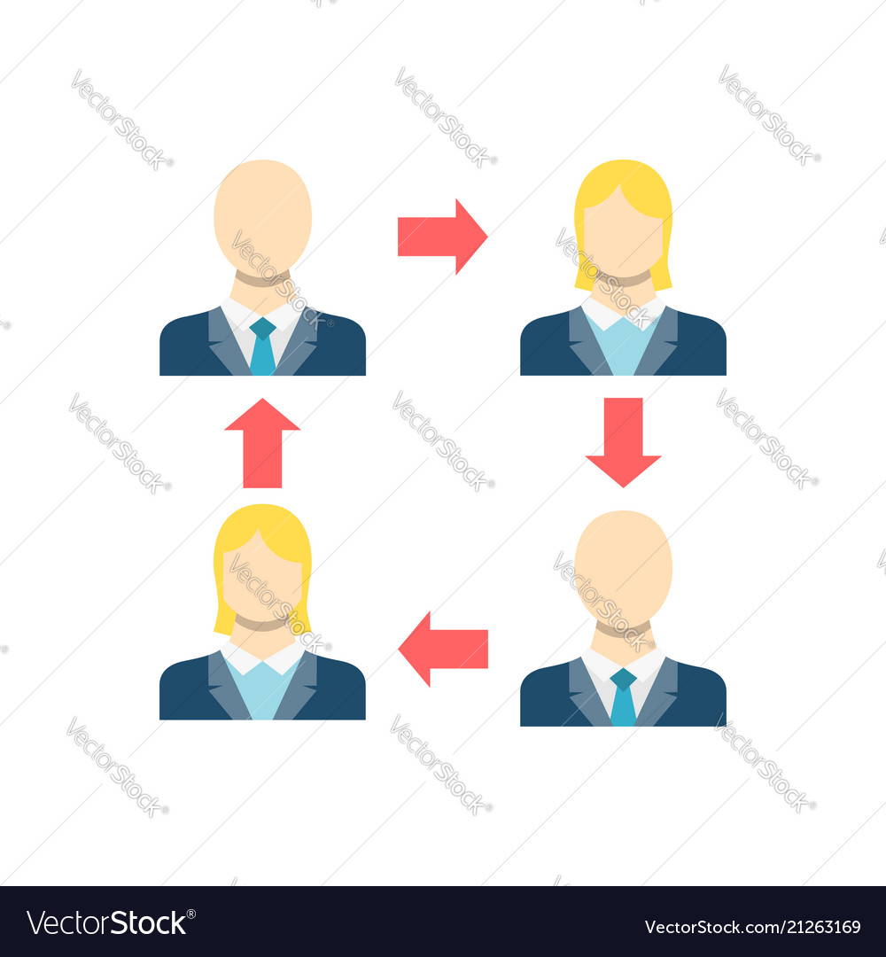 Peer To Icon Vector Image