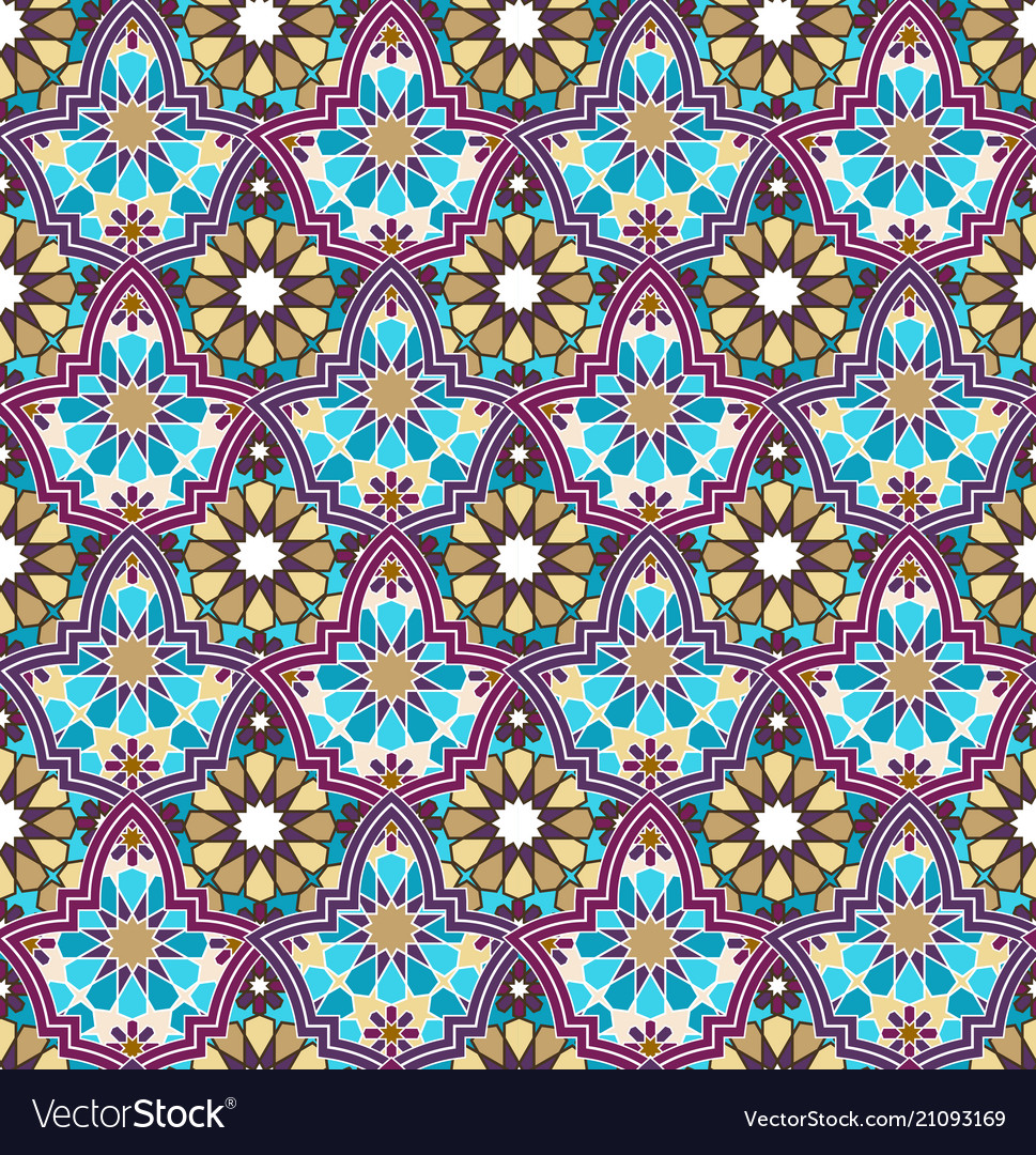 Seamless bright multi-colored geometric pattern