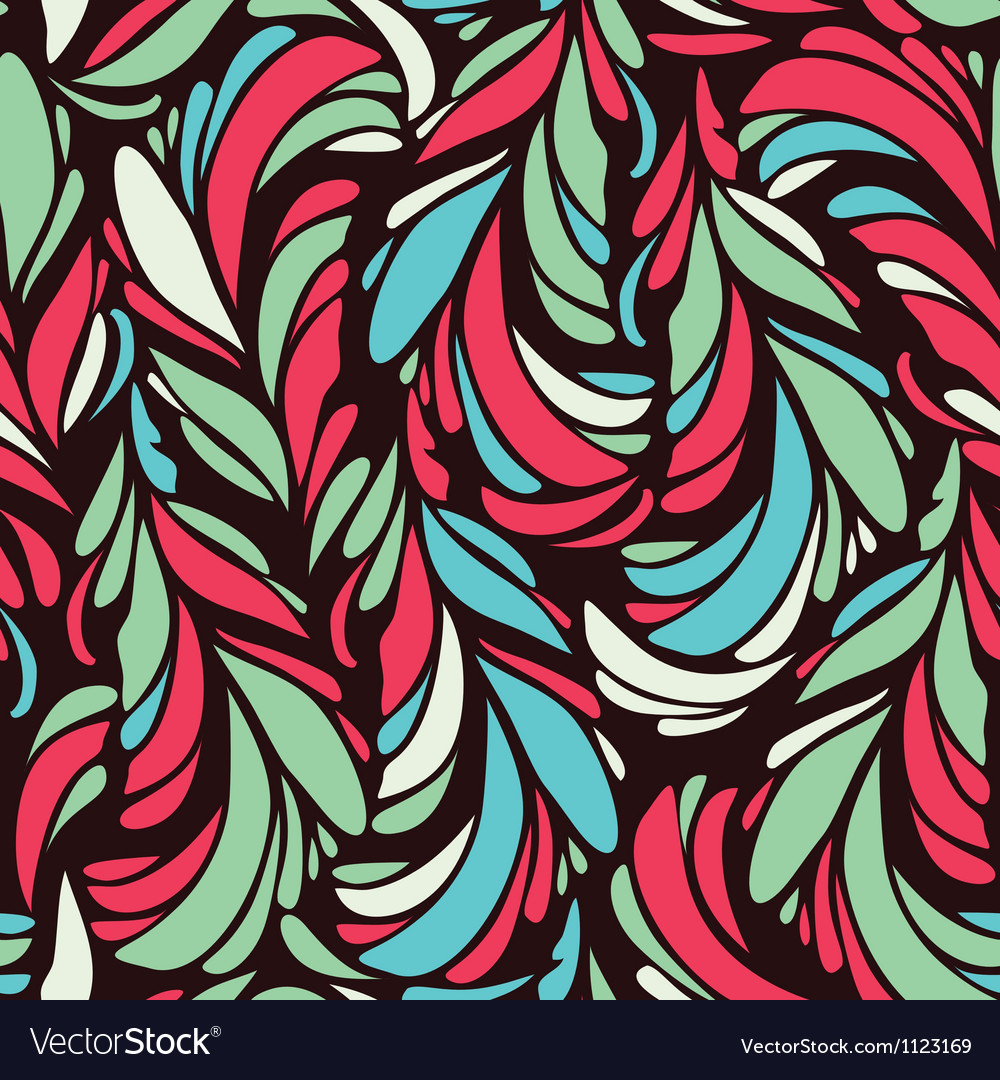 Seamless pattern with stylized scale vector image