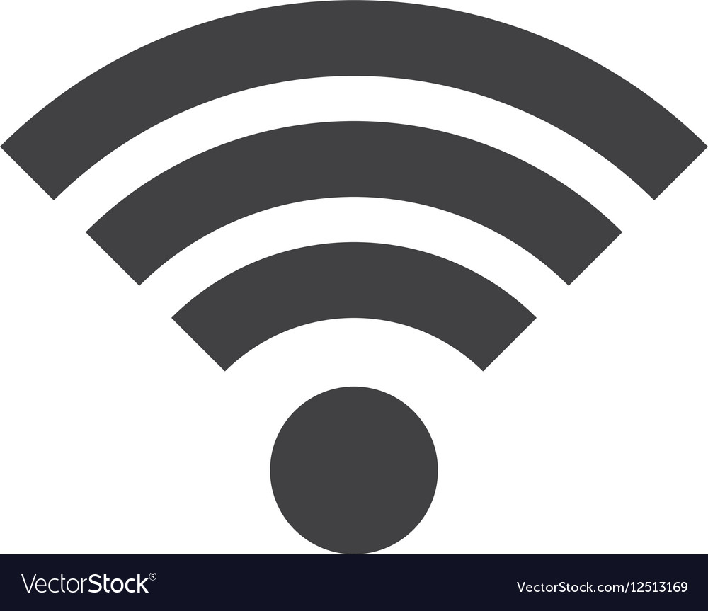 Wifi icon in flat style vector image