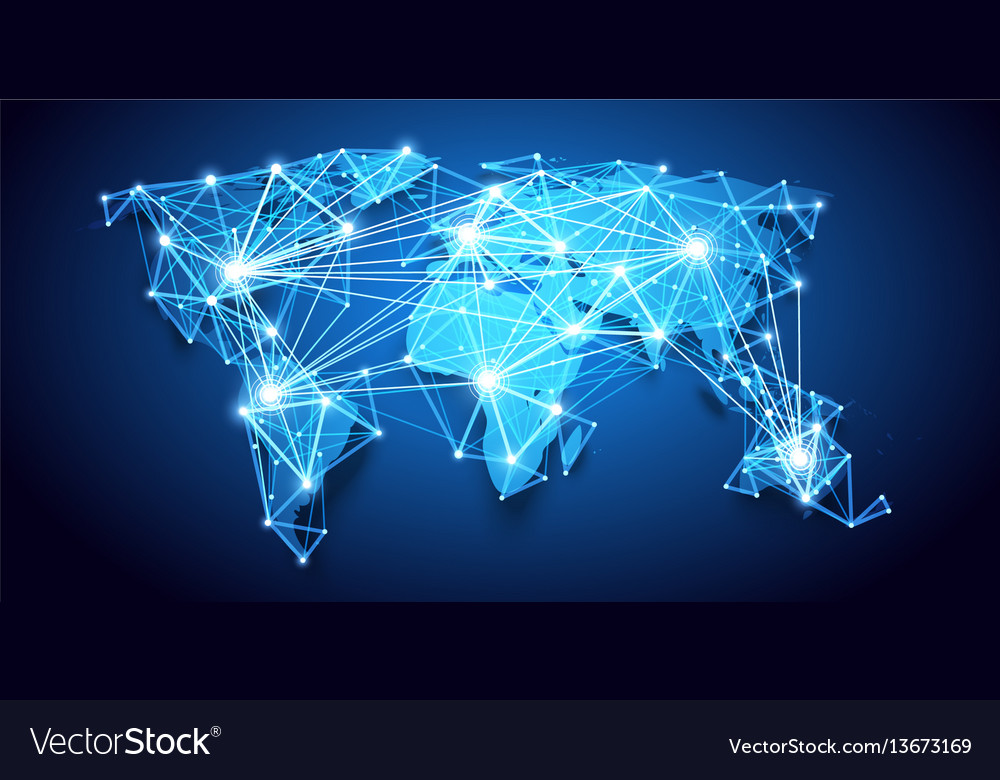 World map global network royalty free vector image world map global network vector image gumiabroncs Image collections