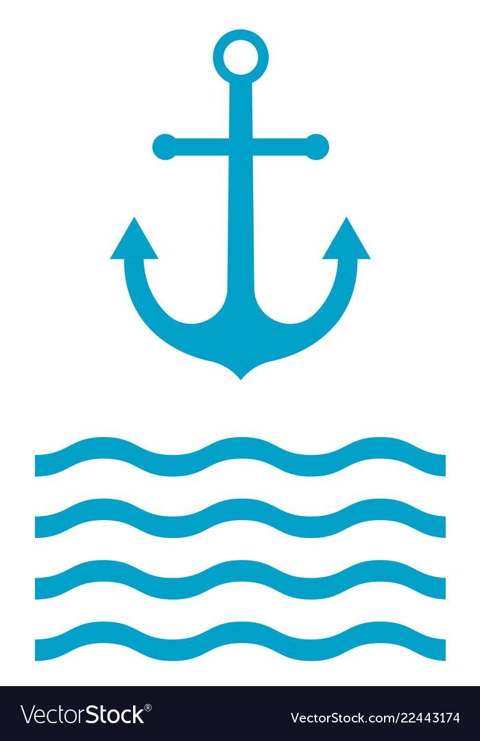 Anchor icon sign