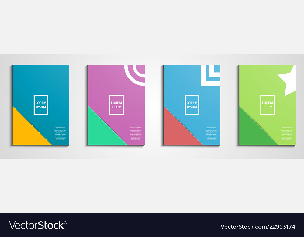 annual report covers design notebook cover vector image