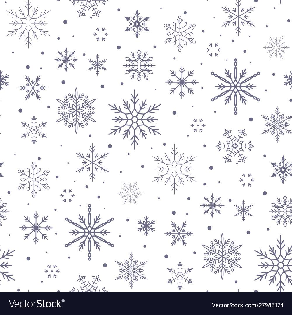 Christmas pattern snowflake background seamless