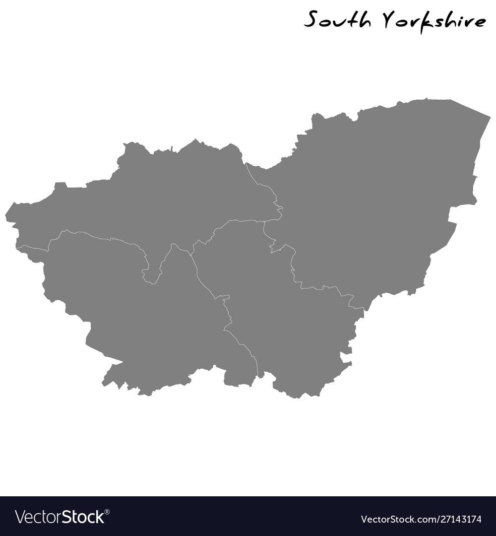 High quality map metropolitan county england