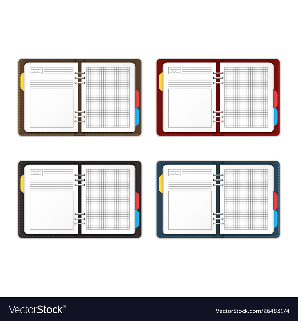 Realistic detailed 3d empty template organizer