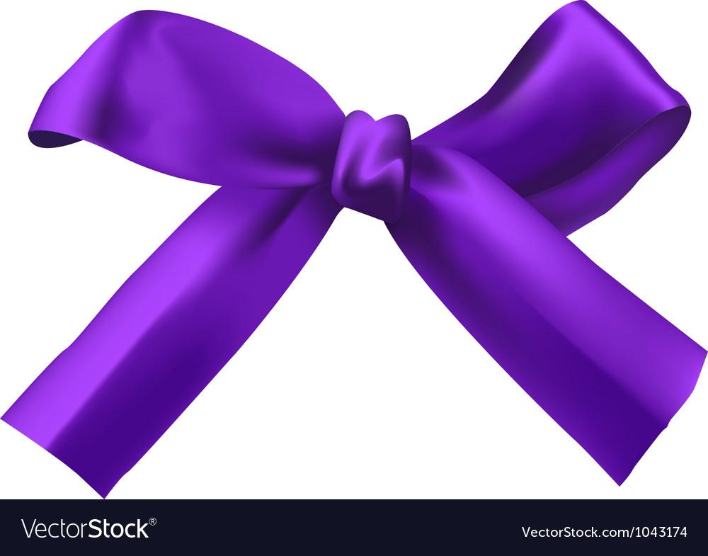 Realistic purple bow