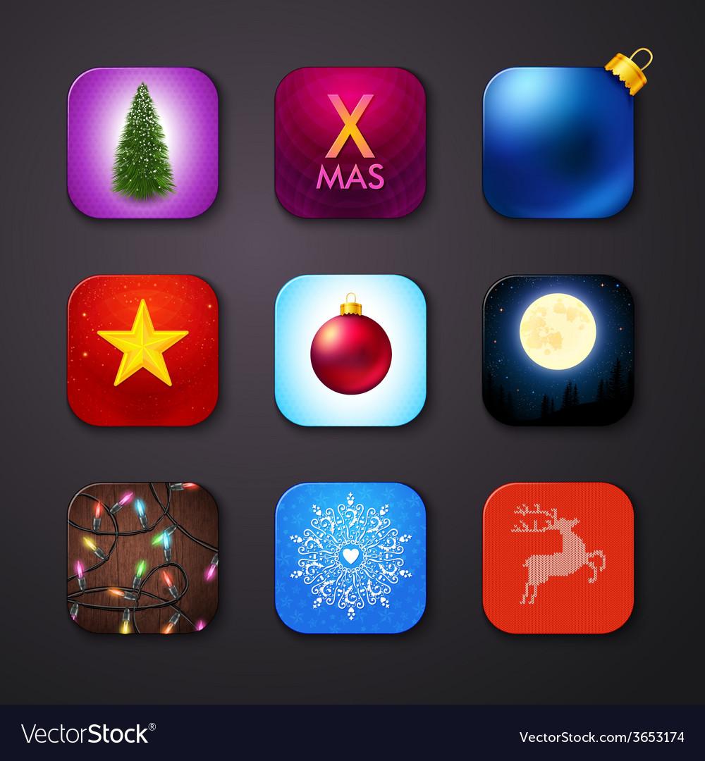 Set of icons stylized like mobile app