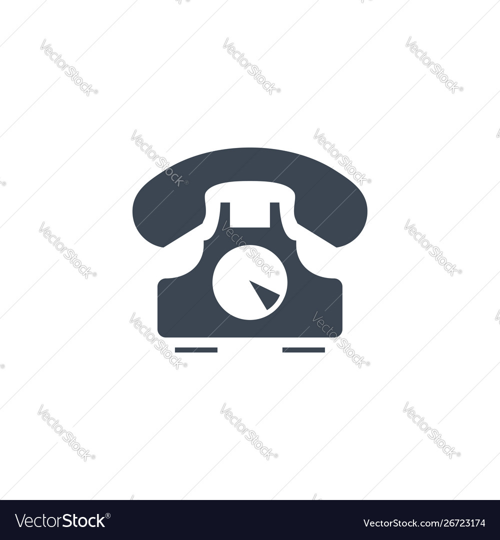 Vintage phone related glyph icon