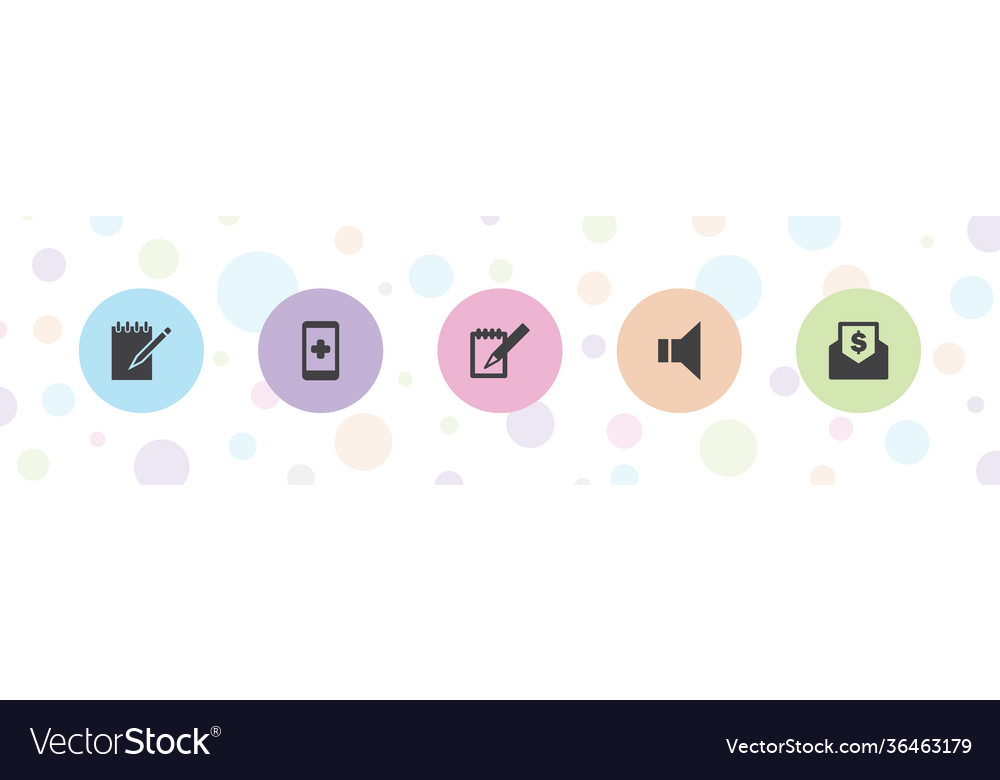 5 message icons