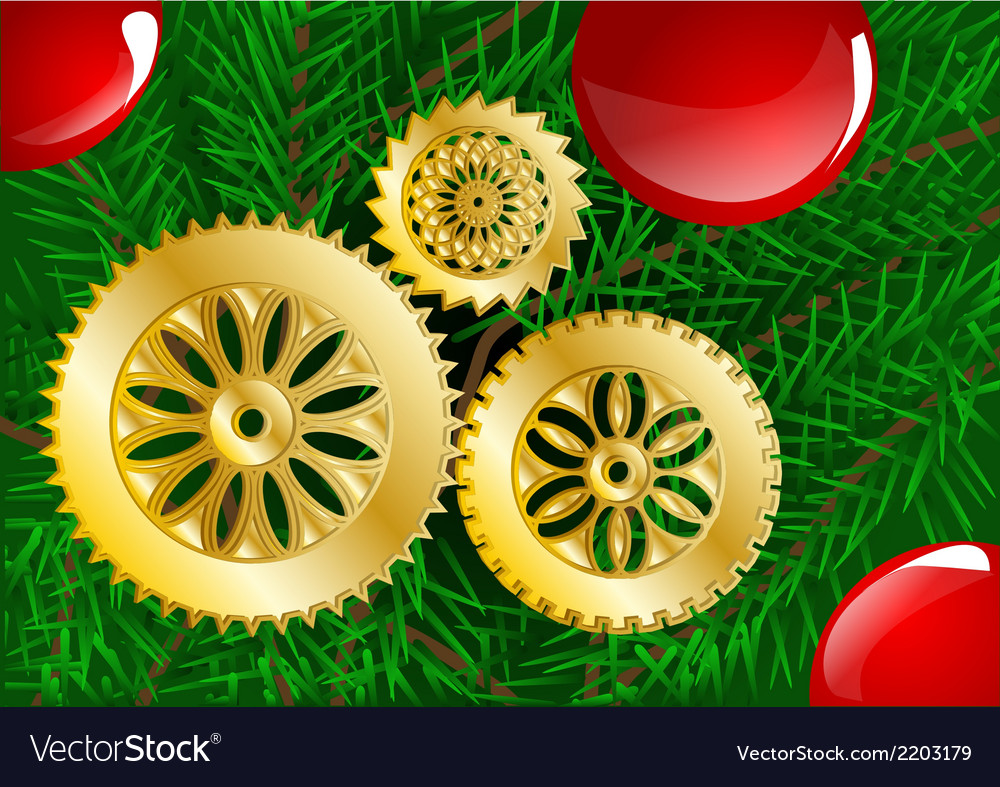 Christmas tree close up vector image