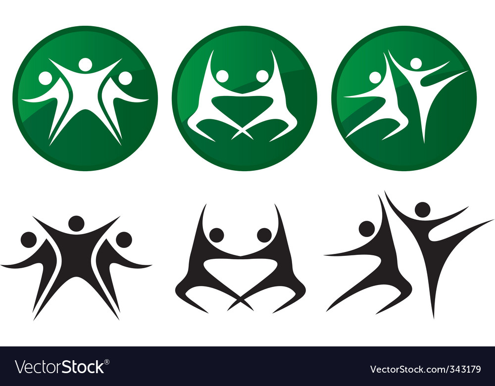 Dancers silhouettes vector image