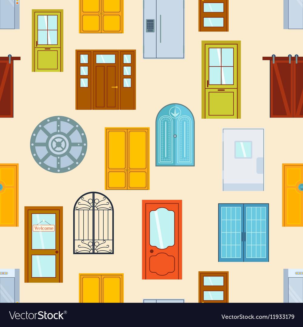Doors seamless pattern