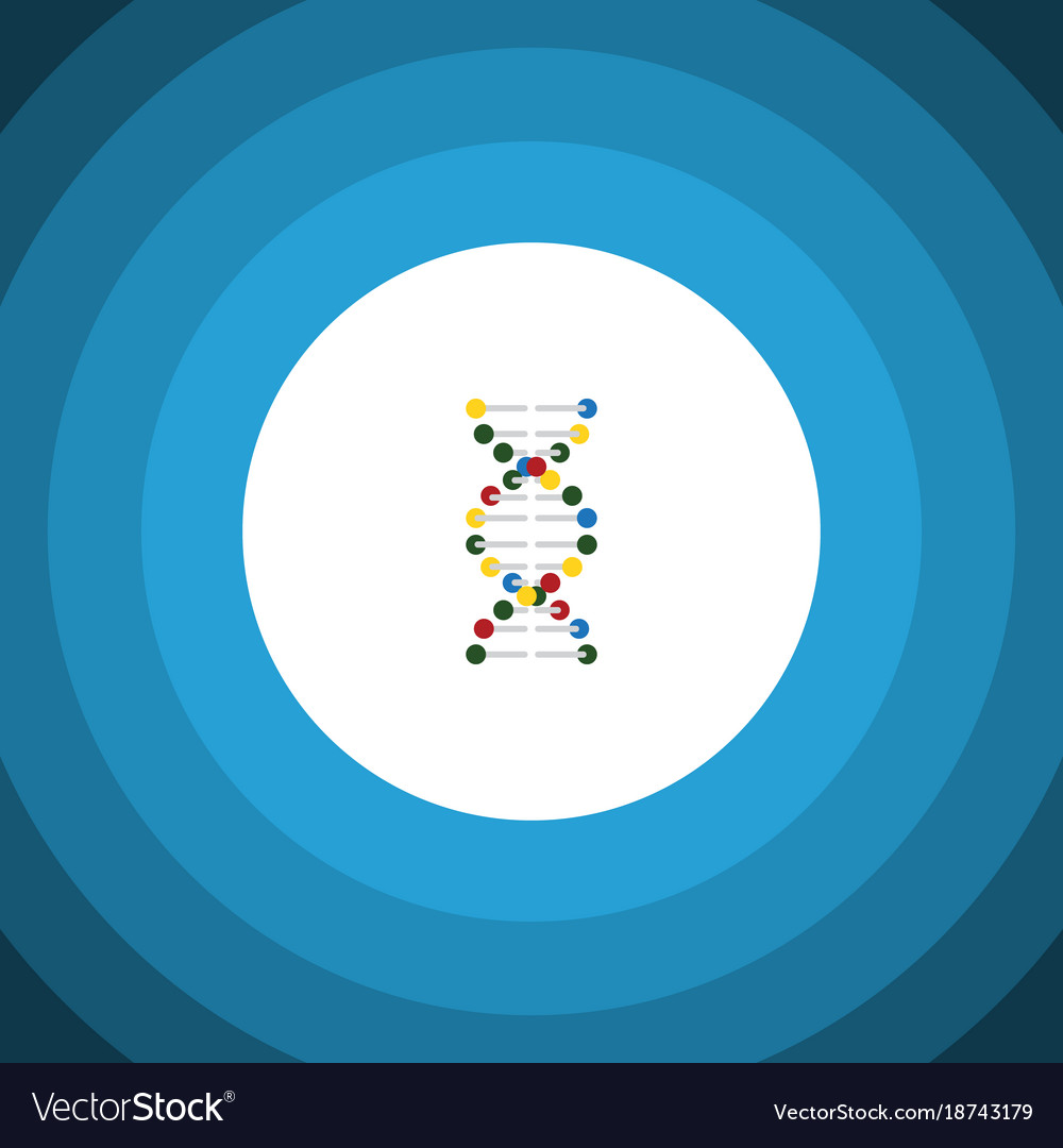 Isolated dna flat icon genome element can