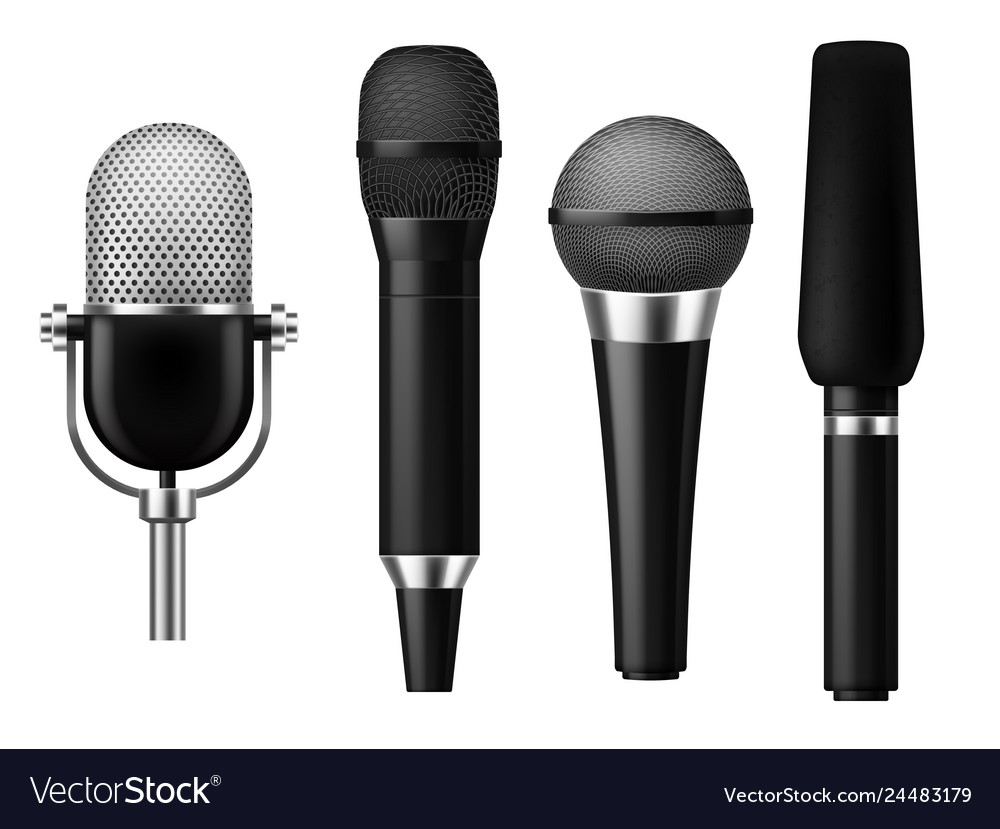 Microphones realistic mic conference news media