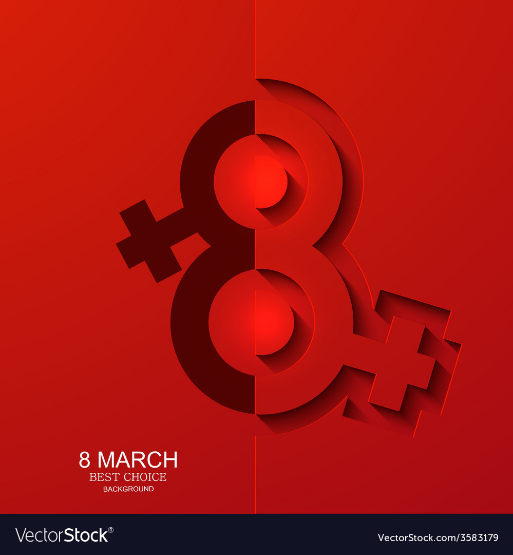 Modern 8 march background Womens day
