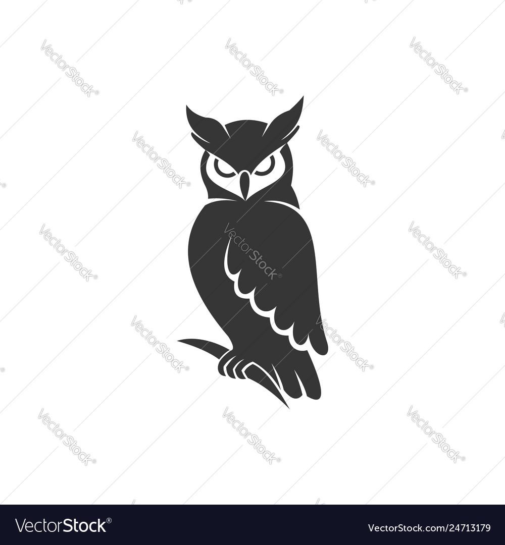Owl logo black