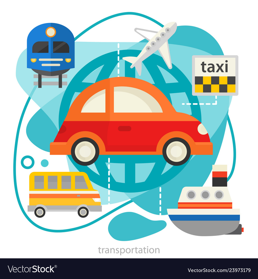 Traveling and tourism concept - transport trendy