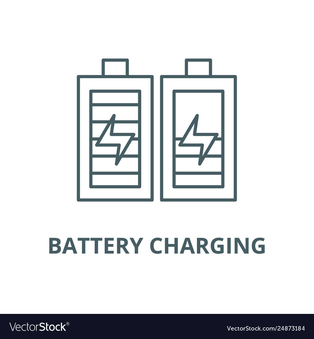 battery charging line icon battery royalty free vector image battery charging line icon battery royalty free vector image