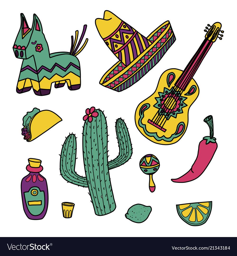 Cinco de mayo mexican set