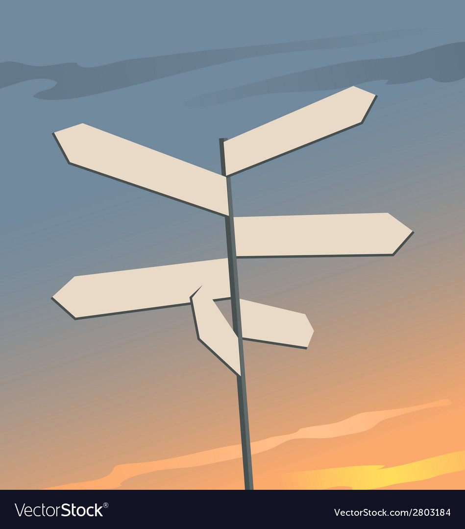 Direction signs