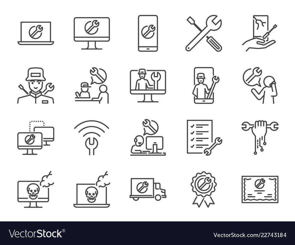 It support icon set