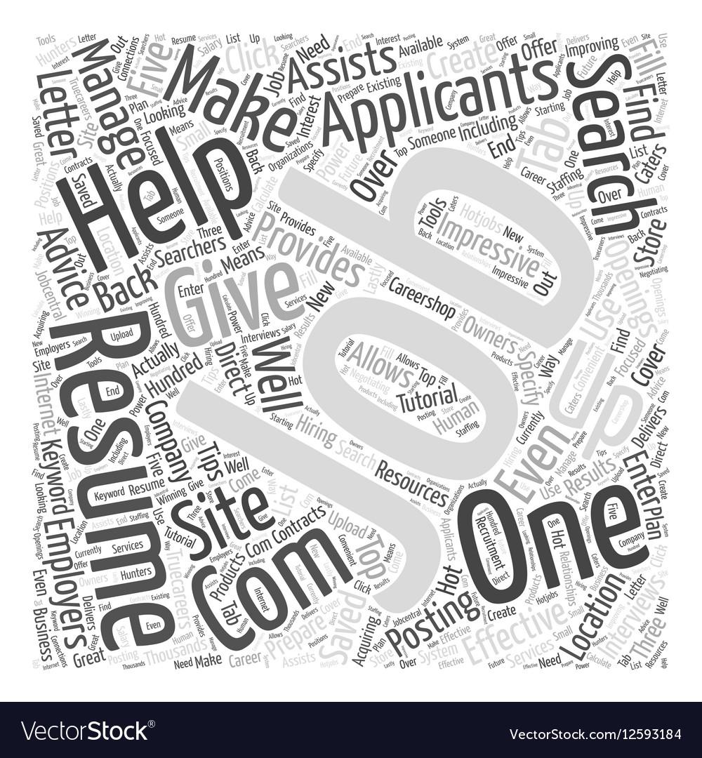 JH job sites Word Cloud Concept