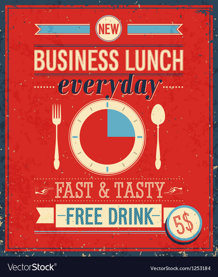 Lunch color vector image
