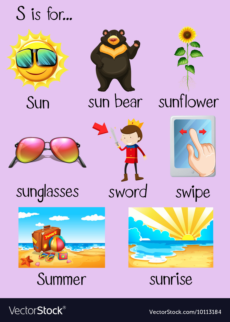Words, Begin, With & S Vector Images (39)