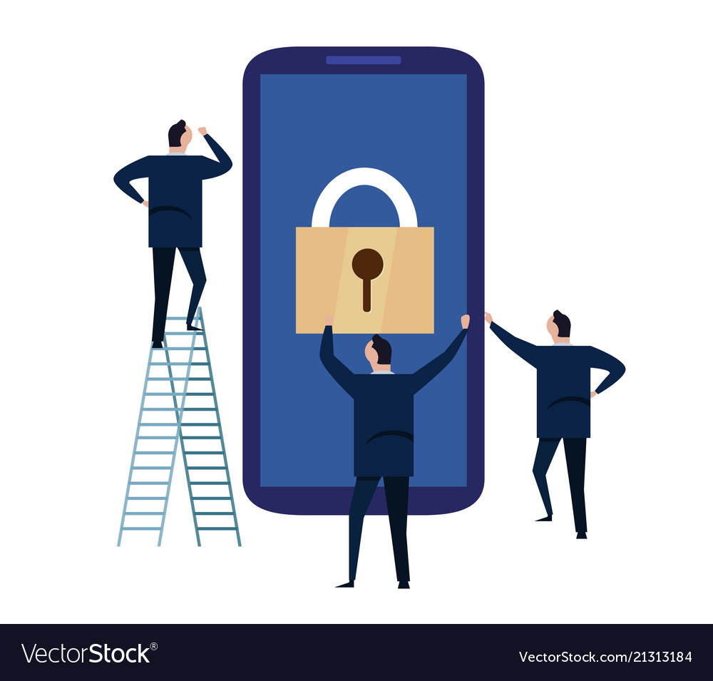Mobile device security cyber security concept