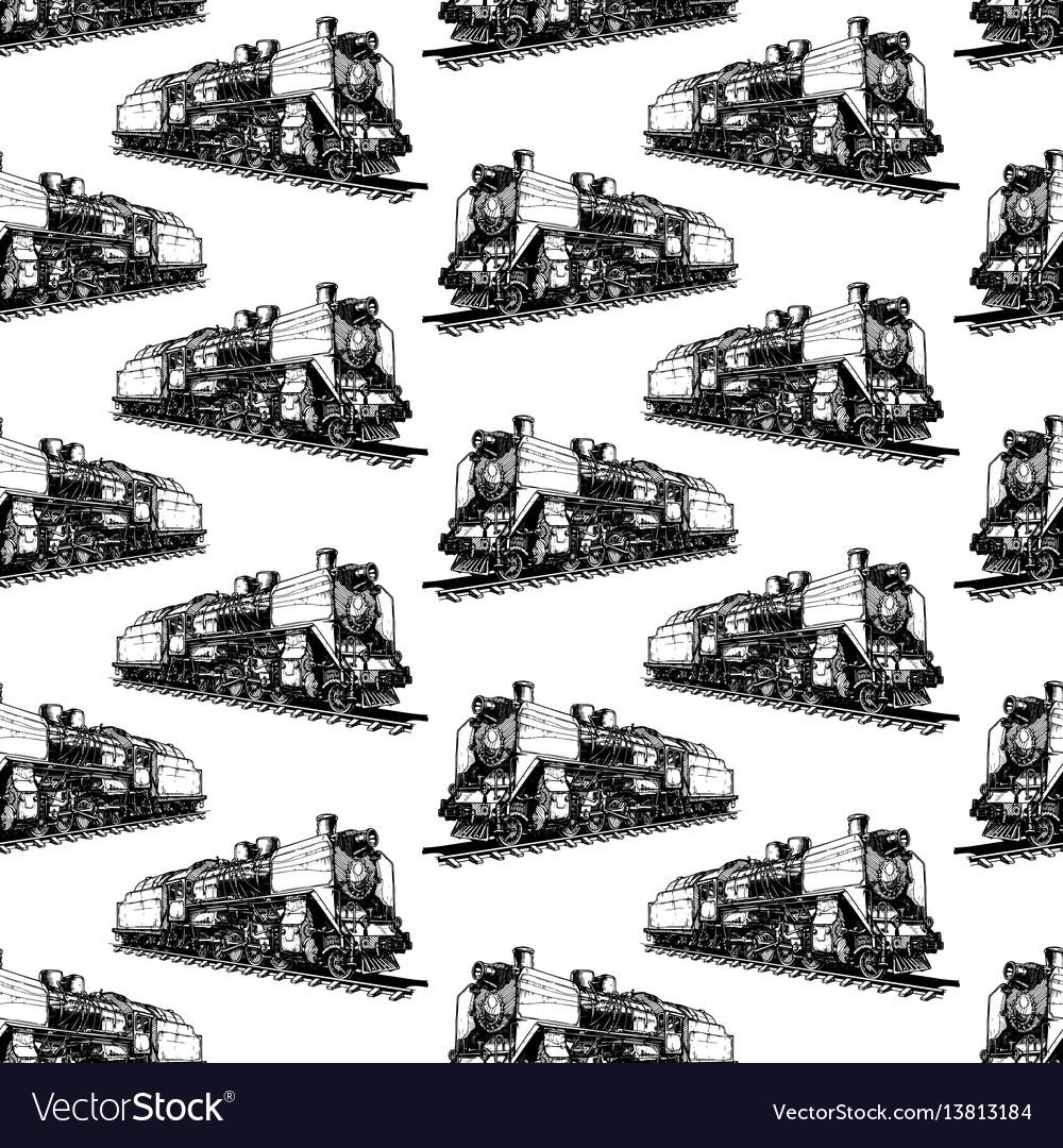 Pattern with steam locomotive