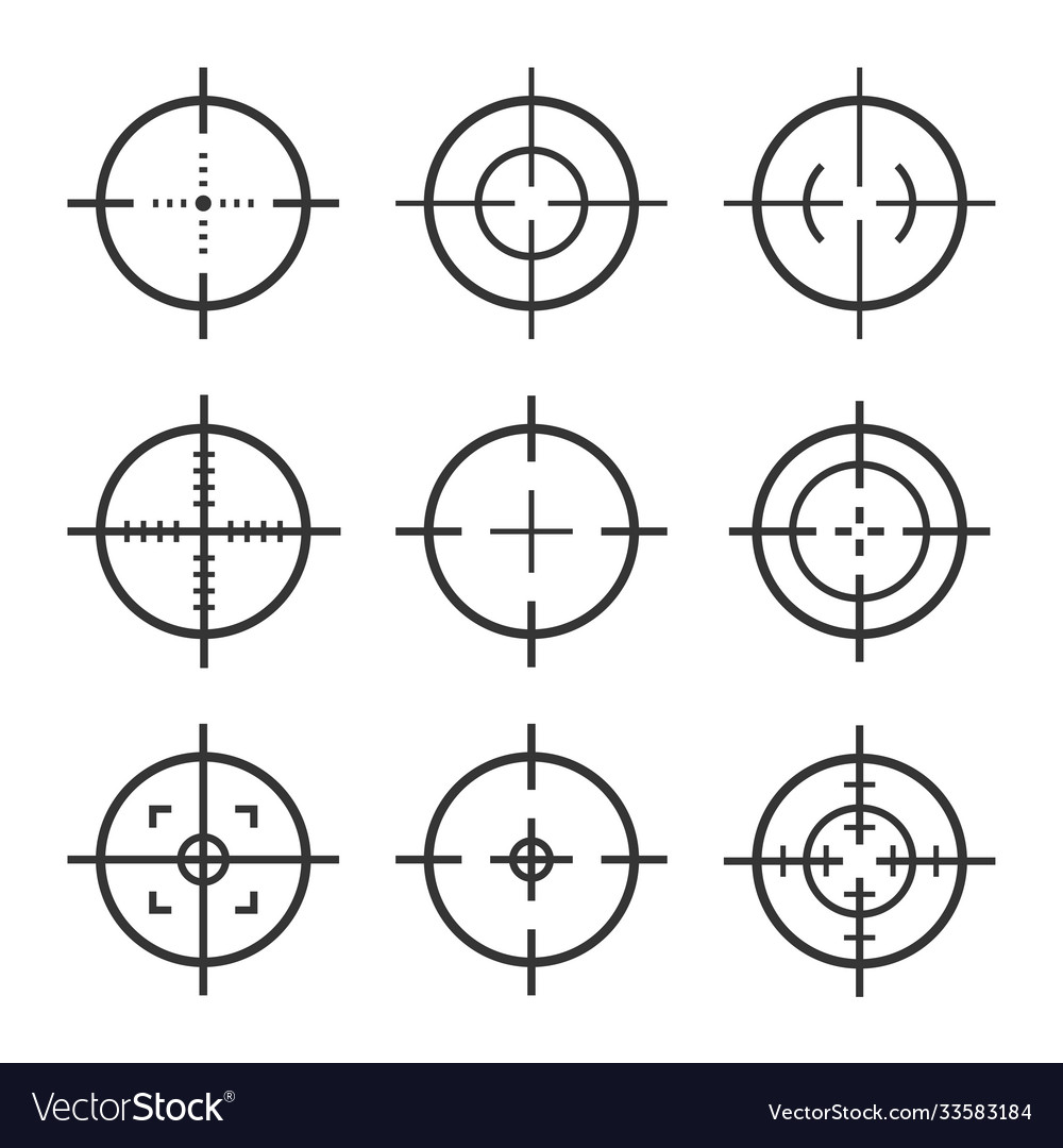 Set target aim icons sniper scope and